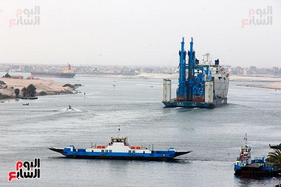 الكراكة مهاب مميش تنضم لأسطول قناة السويس (12)