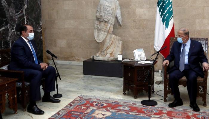 السفير حسام زكى فى لبنان