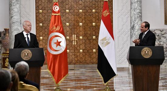 القمة المصرية التونسية (5)