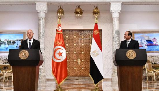 القمة المصرية التونسية (7)