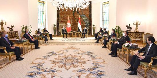 القمة المصرية التونسية (1)