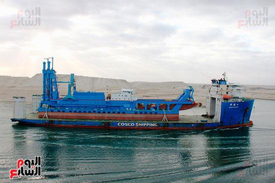 الكراكة مهاب مميش تنضم لأسطول قناة السويس (10)