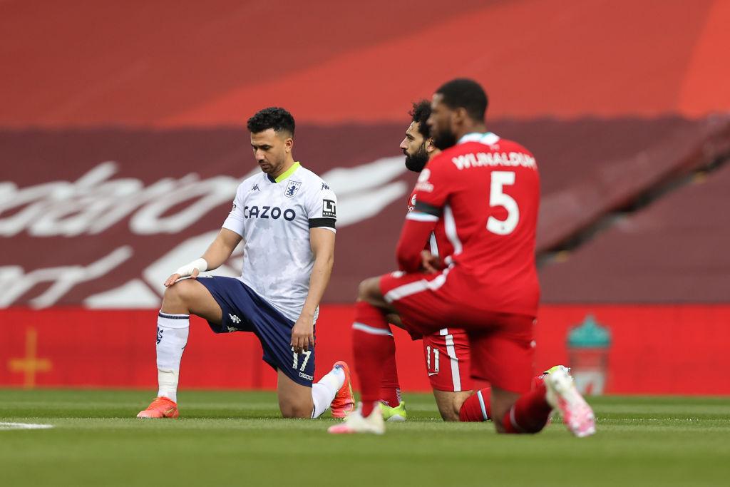 محمد صلاح وتريزيجيه قبل بداية اللقاء