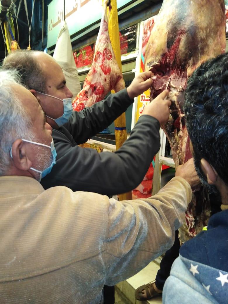 الحملة التفتيشية واللحوم المضبوطة