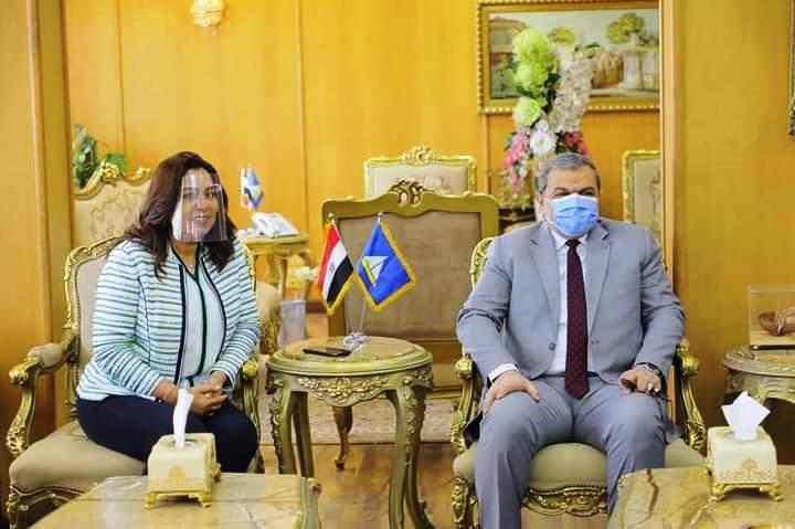 لقاء محافظ دمياط وزير القوى العاملة