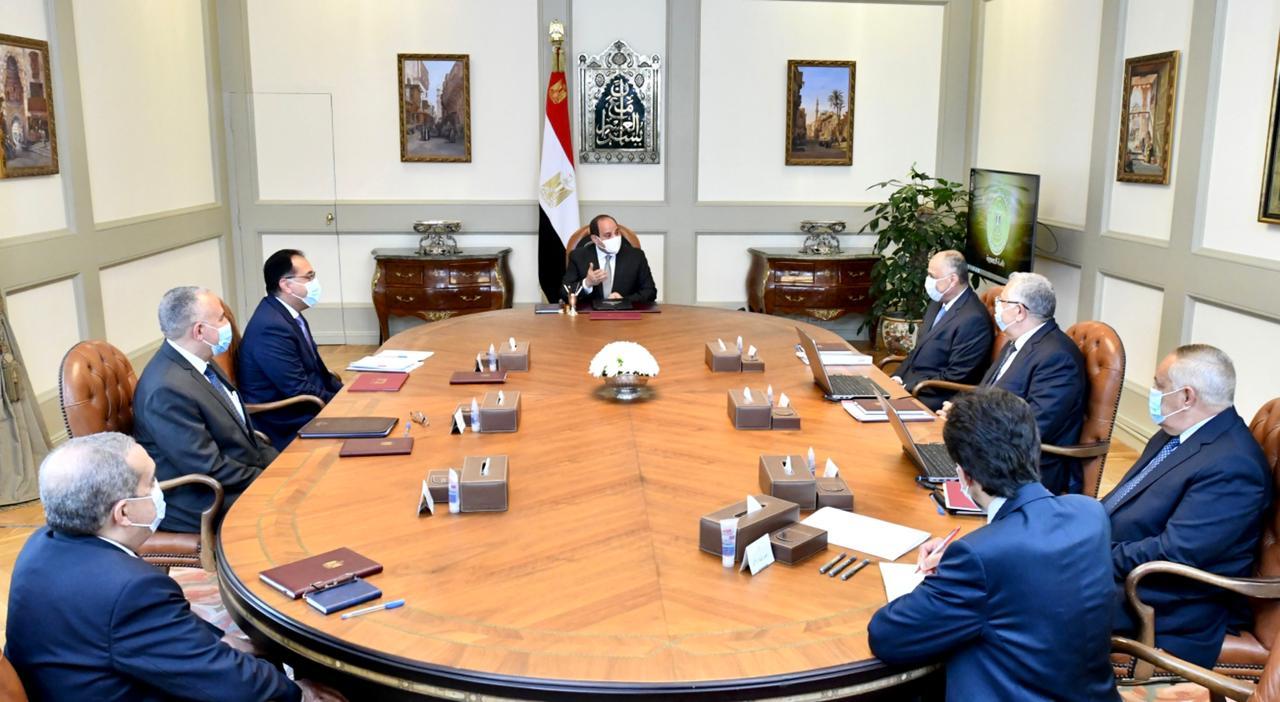 الرئيس السيسى يوجه بتكامل تطوير نظم الرى الحديث مع مشروعات الدولة