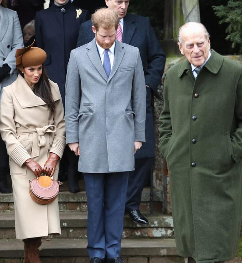 الأمير هارى والأمير فيليب وميجان ماركل