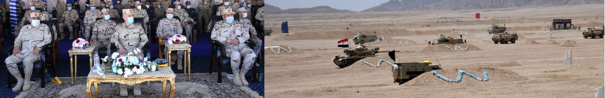 الفريق محمد فريد يشهد المشروع التدريبى الفاتح - 2021 (3)