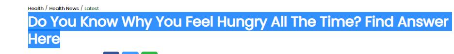 هل تعلم لماذا تشعر بالجوع طوال الوقت