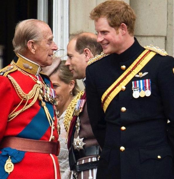 الأمير فيليب والأمير هارى
