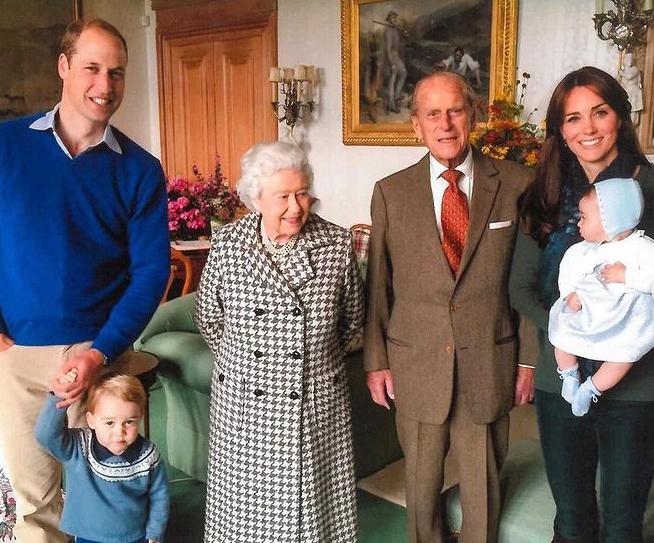 الملكة اليزابيث الأمير فيليب ودوق ودوقة كامبريدج