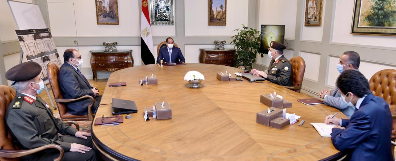 الرئيس السيسى يوجه بتطوير وتوسعة محور كوبرى 6 أكتوبر والطرق السطحية أسفله