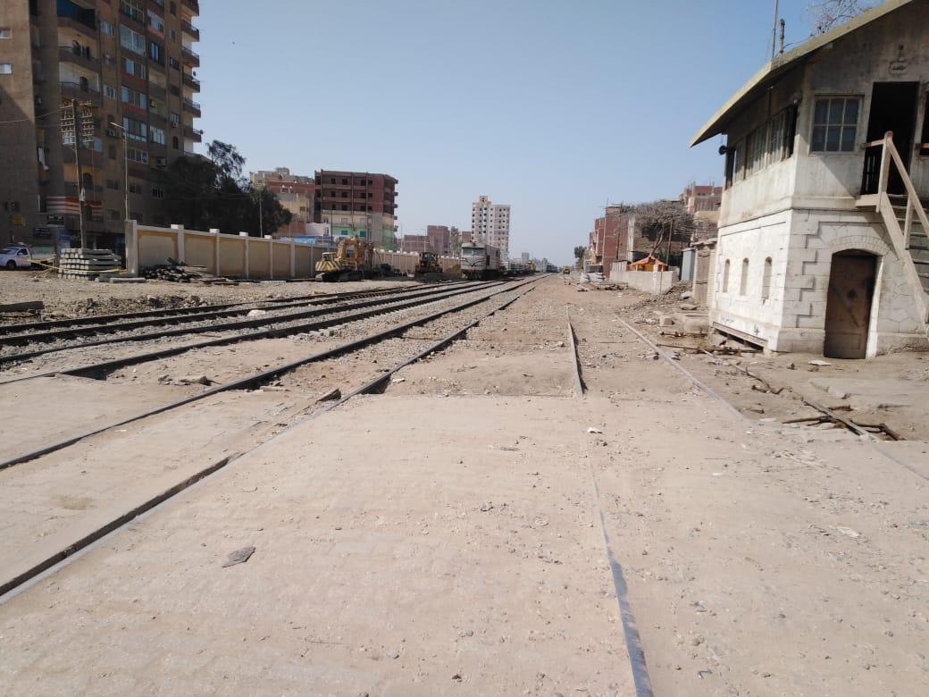 خط السكة الحديد فى منيا القمح