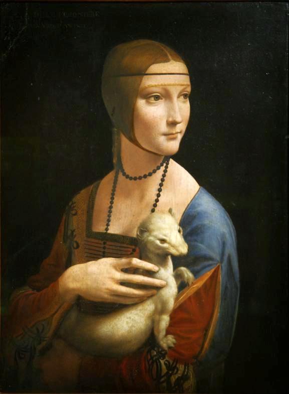 سيدة مع قاقم