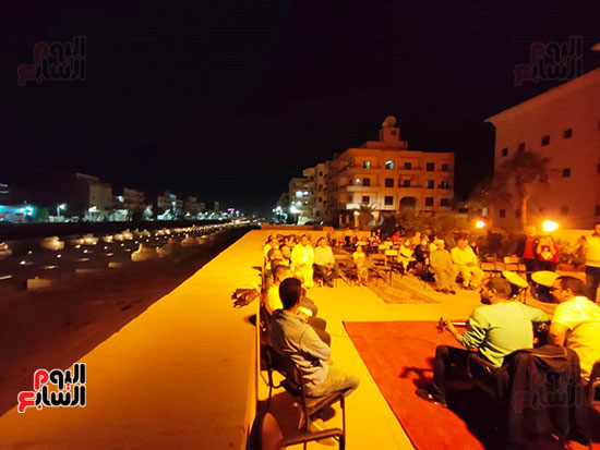 سهرة رمضانية مبهرة على طريق الكباش بالأقصر (3)