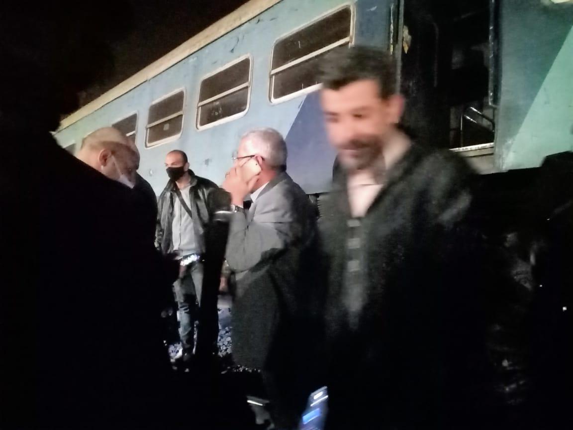 خروج قطار عن القضبان بالشرقية  (8)