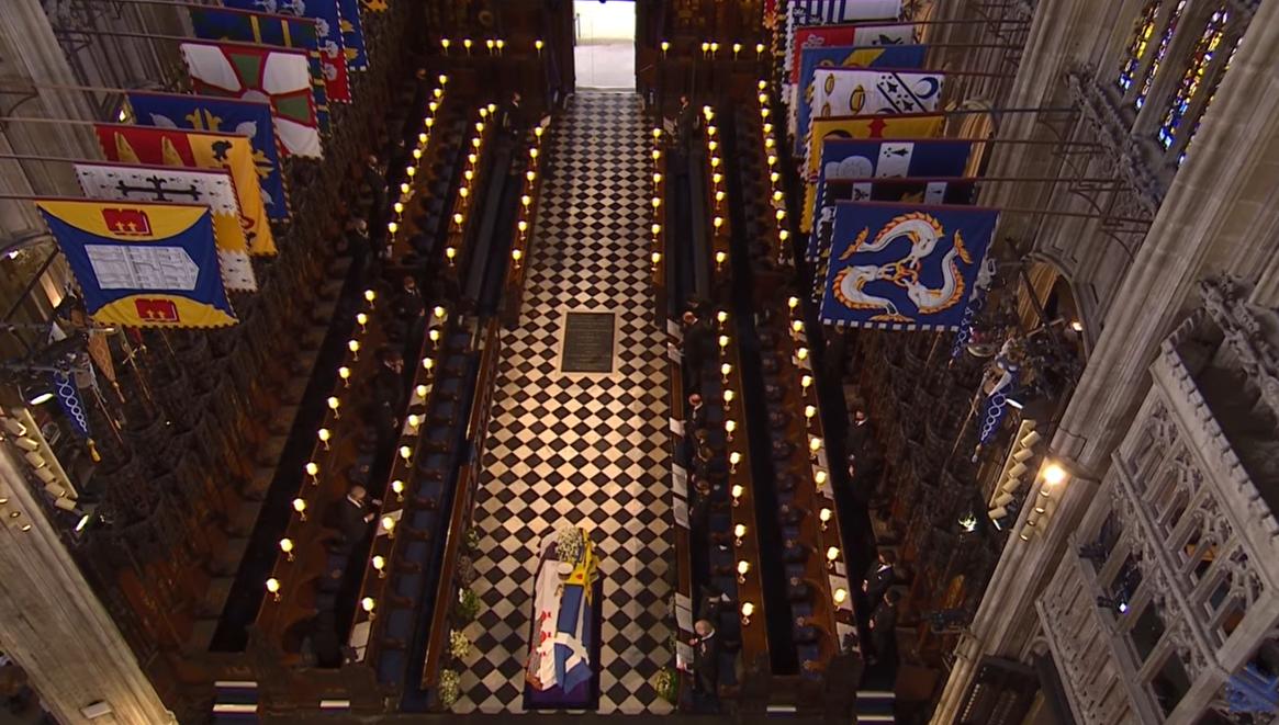نغش الأمير فيليب فى كنيسة القديس جورج
