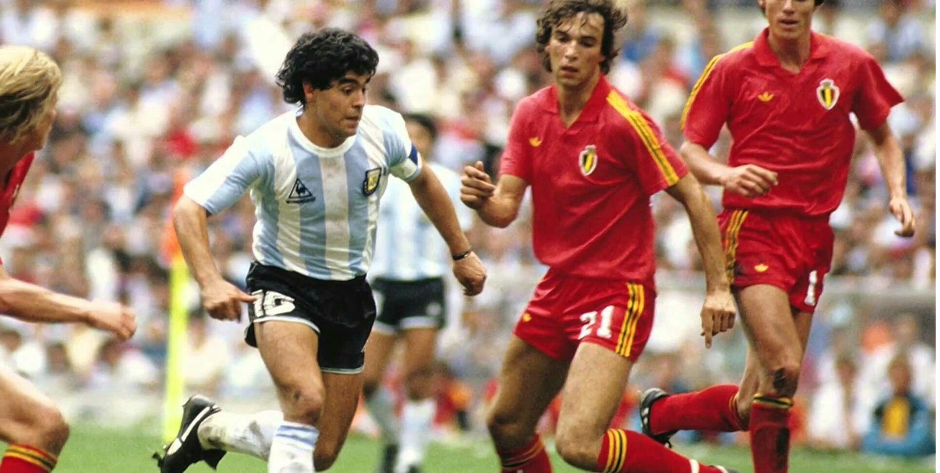 مارادونا ضد بلجيكا