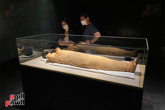المومياوات الملكية متاحة لاستقبال الزوار بالمتحف القومى للحضارة (1)