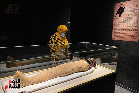المومياوات الملكية متاحة لاستقبال الزوار بالمتحف القومى للحضارة (2)