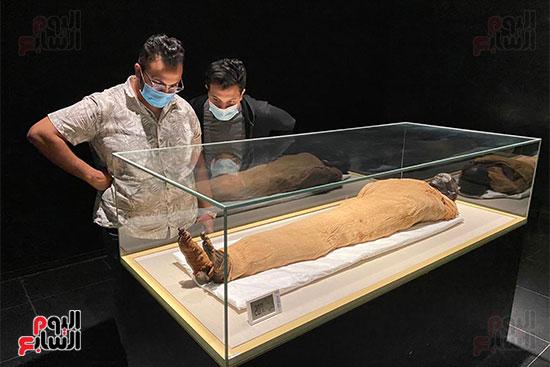 المومياوات الملكية متاحة لاستقبال الزوار بالمتحف القومى للحضارة (13)