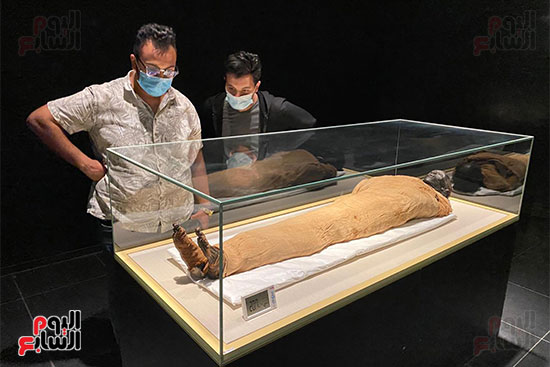 المومياوات الملكية متاحة لاستقبال الزوار بالمتحف القومى للحضارة (11)