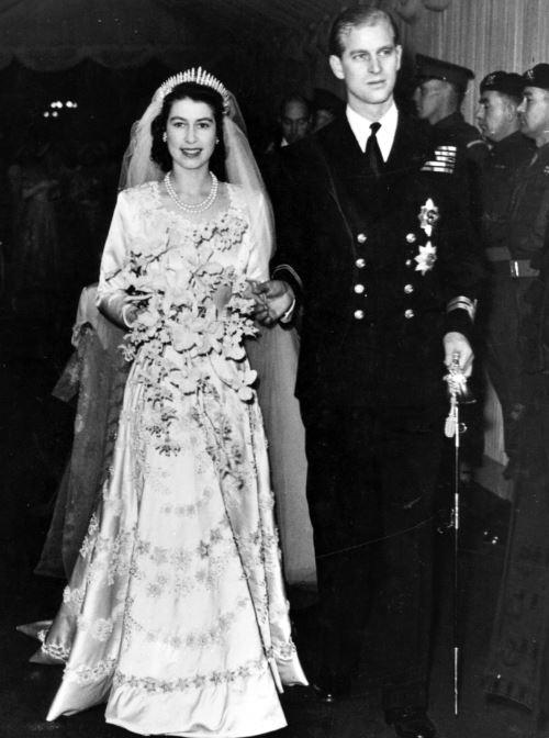 الامير فيليب يوم زفافه