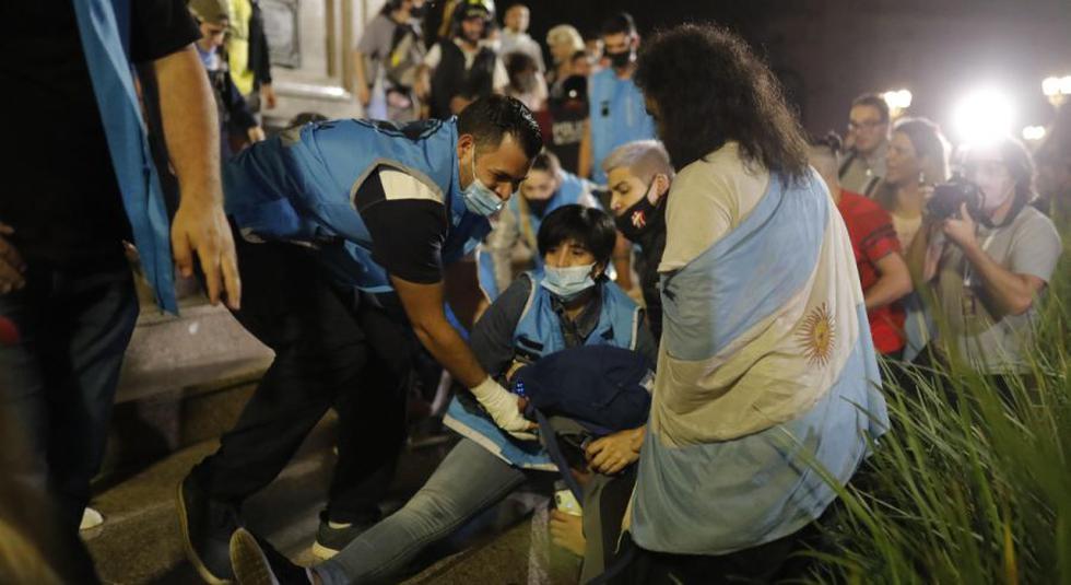 احتجاجات ارجنتينية ضد قيود كورونا