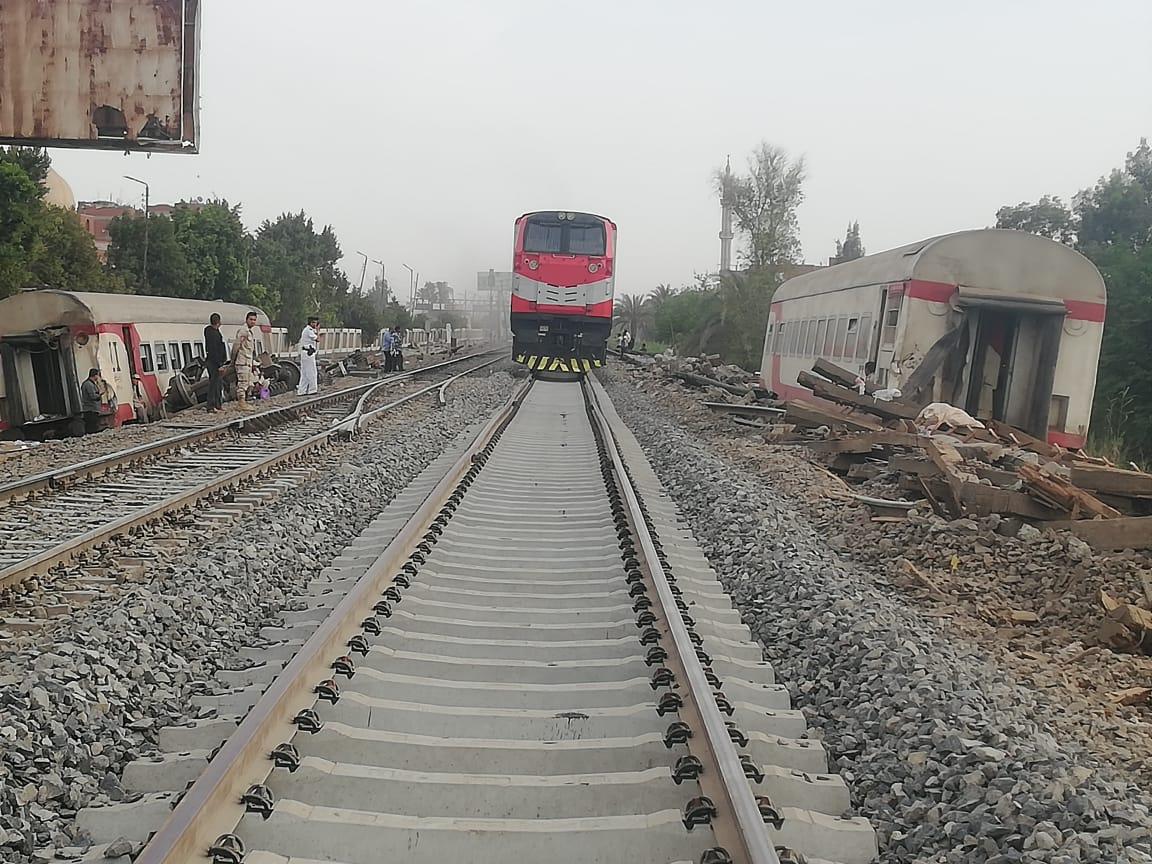 عودة حركة القطارات بموقع الحادق