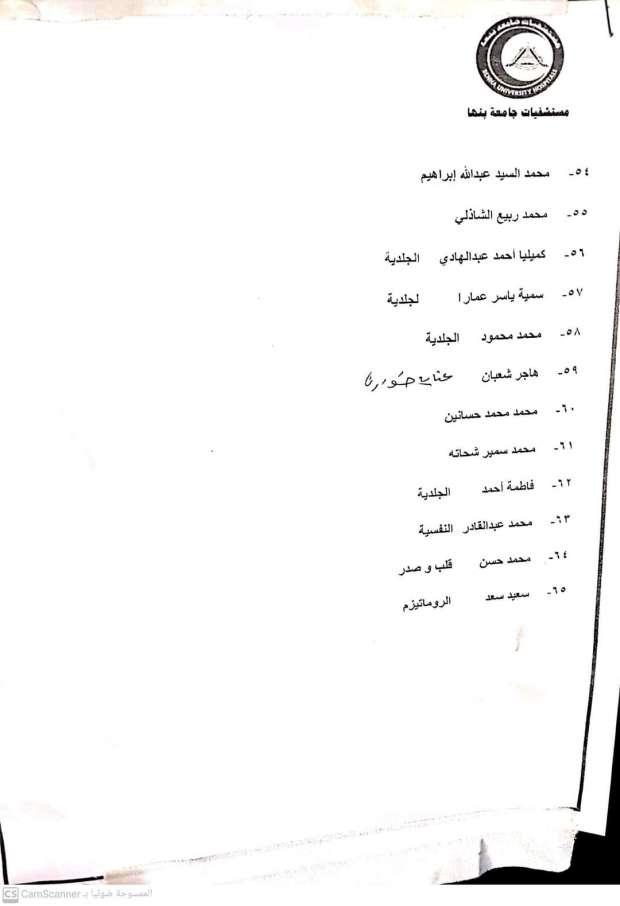 أسماء المصابين فى حادث قطار طوخ  (4)
