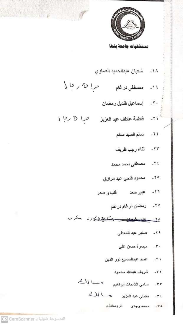 أسماء المصابين فى حادث قطار طوخ  (2)
