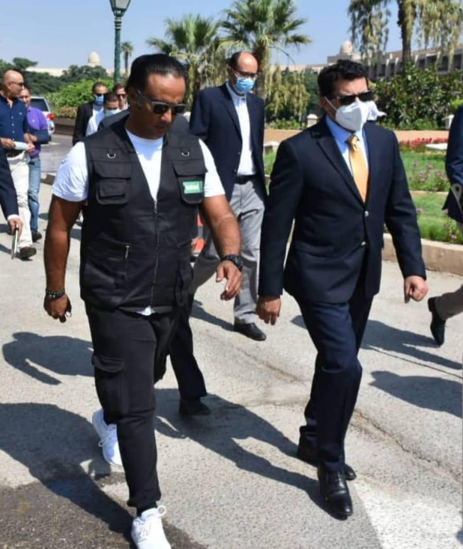 منتصر النبراوى مع وزير الرياضة
