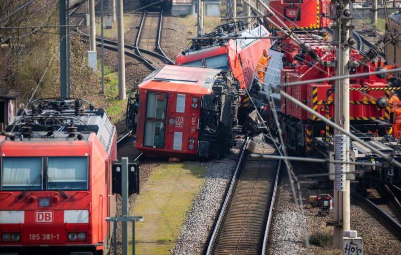 تصادم القطارات في ألمانيا