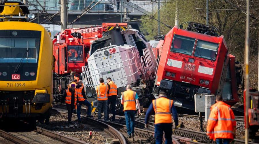 تصاد القطارات في ألمانيا