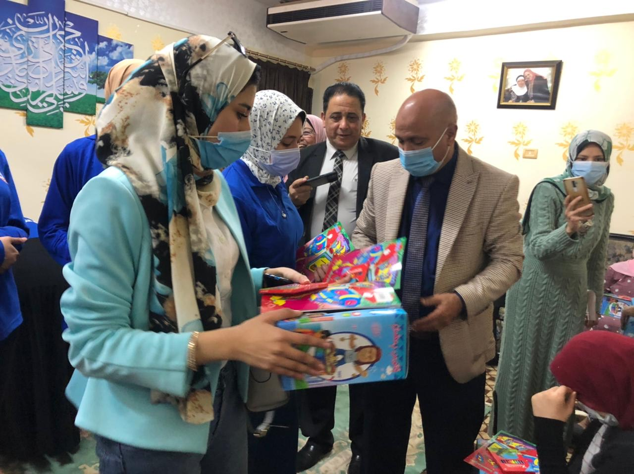 صحة الغربية تحتفل بيوم اليتيم وتقدم الوعى الصحى والمجتمعى للأطفال (1)