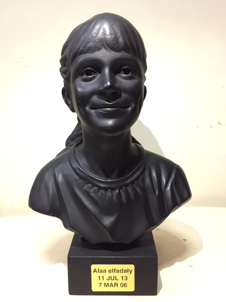 التمثال بعد الانتهاء