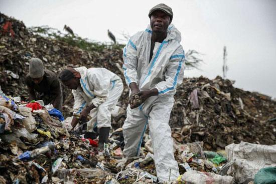 أكبر مكب للقمامة في العاصمة الكينية نيروبي