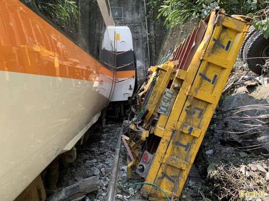 الحادث نتج عن انزلاق مركبة بناء على جسر واصطدامها بالقطار