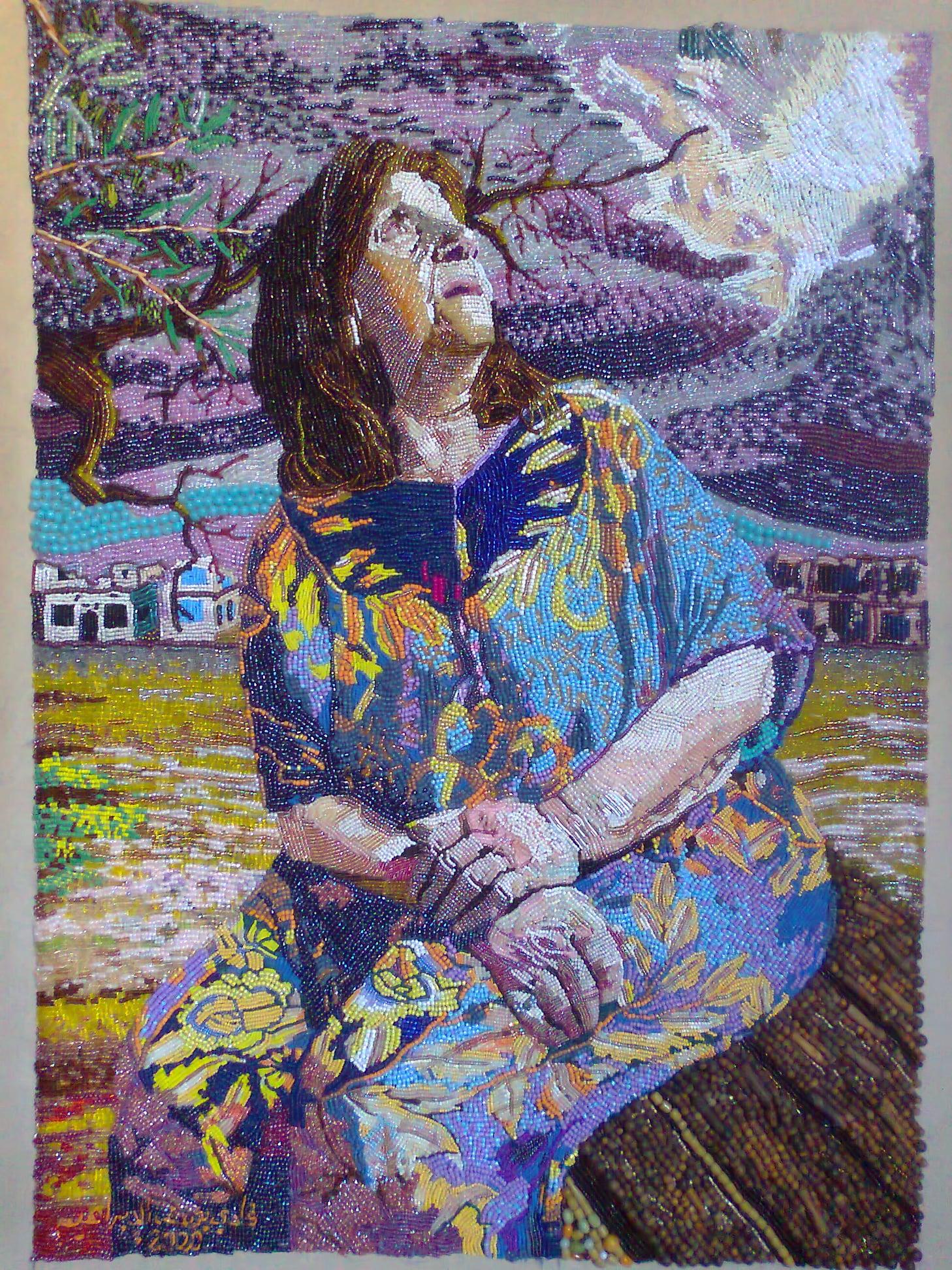 لوحة امي الخائفة