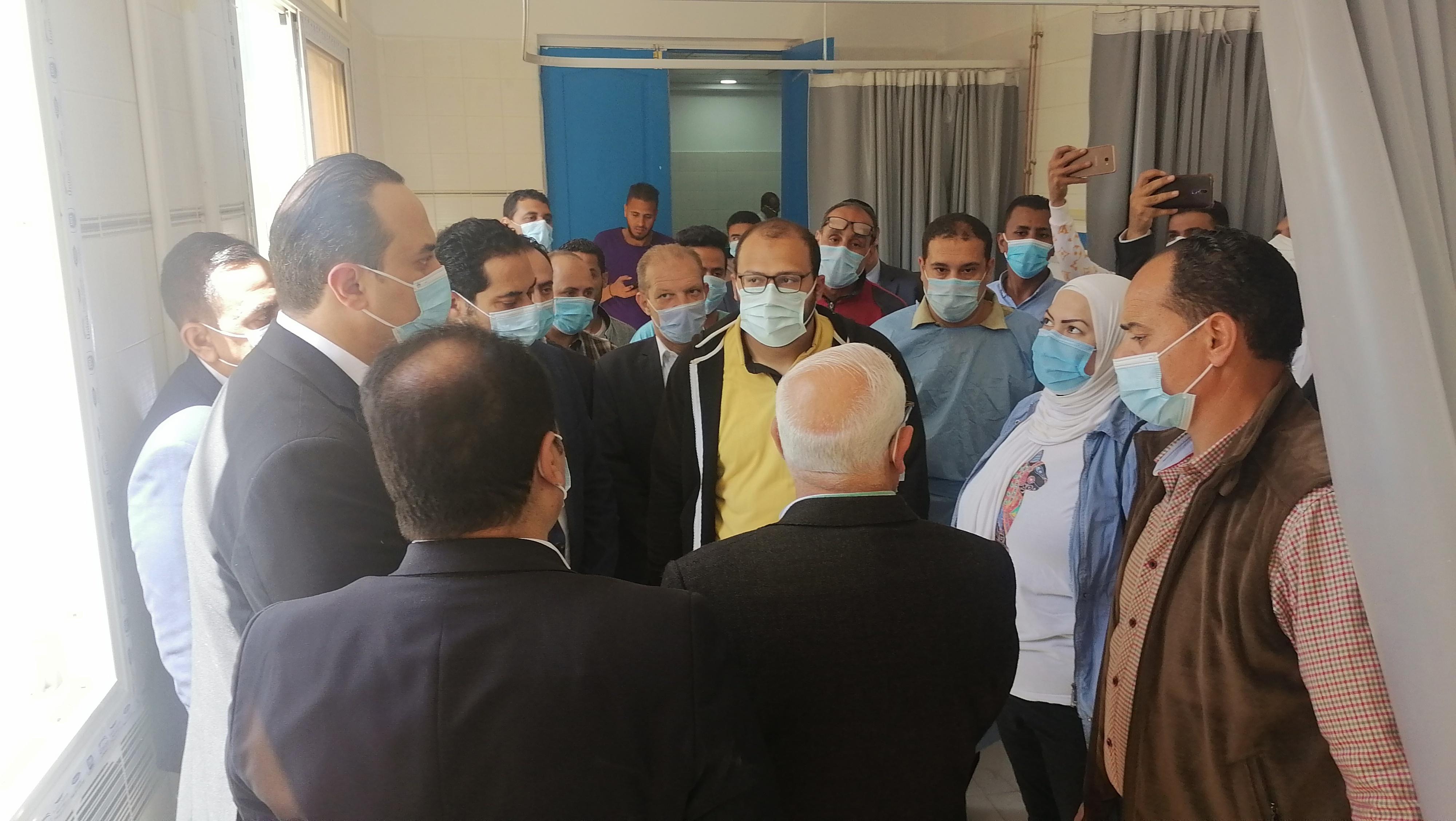 خلال جولة تفقدية داخل مستشفى المصح البحري