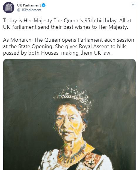 البرلمان البريطانى يهنئ الملكة اليزابيث بعيد ميلادها
