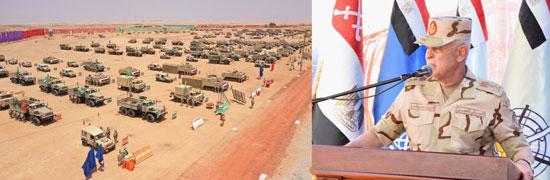 الفريق محمد فريد يشهد مشروع (إعصار62) بإحدى تشكيلات الجيش الثالث الميدانى (3)