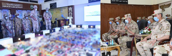 الفريق محمد فريد يشهد مشروع (إعصار62) بإحدى تشكيلات الجيش الثالث الميدانى (1)