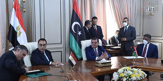 مباحات رئيس الحكومة المصرية وحكومة الوحدة الوطنية الليبيبة اليوم