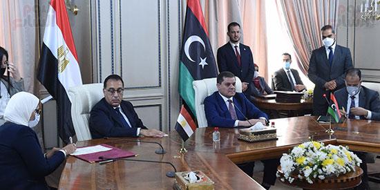 المباحثات الموسعة فى العاصمة الليبية طرابلس، برئاسة الدكتور مصطفى مدبولى و عبد الحميد الدبيبة