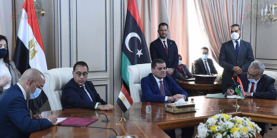 مباحثات رئيسا الحكومة المصرية وحكومة الوحدة الوطنية الليبية