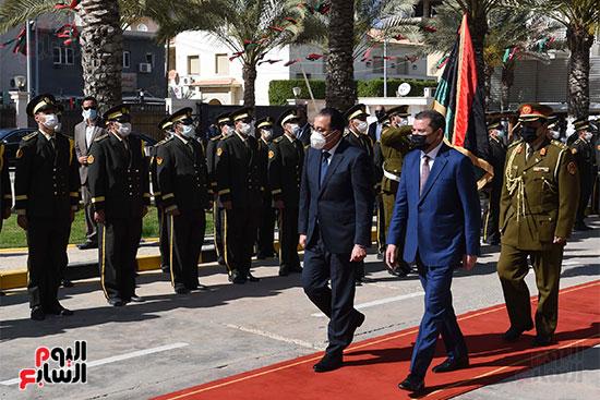 زيارة رئيس الوزراء المصرى للعاصمة الليبية طرابلس