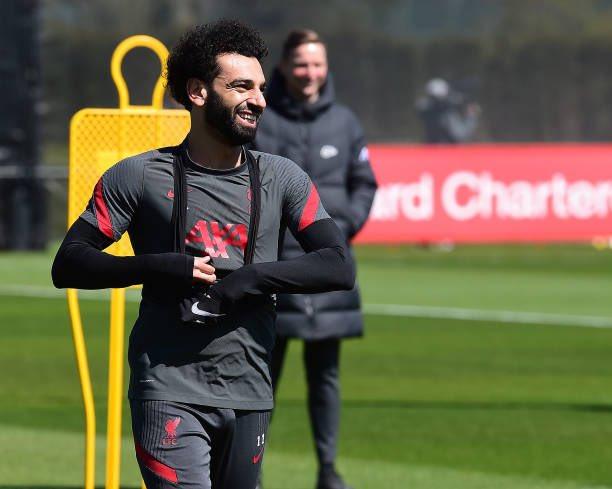 محمد صلاح فى تدريبات ليفربول (4)