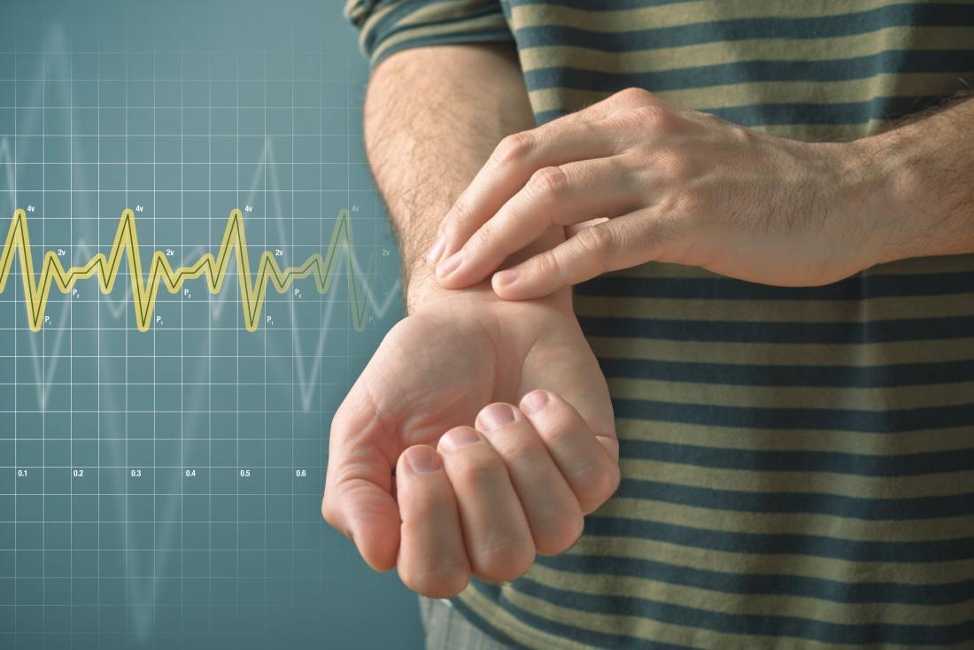 person-lowering-their-heart-rate-with-fingers-on-wrist-to-measure-pulse