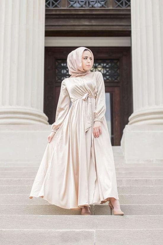 أفكار فساتين سهرة للمحجبات في عيد الفطر (13)